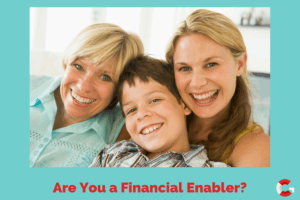 Are You a Financial Enabler, Mother, daughter, and son happy and laughing