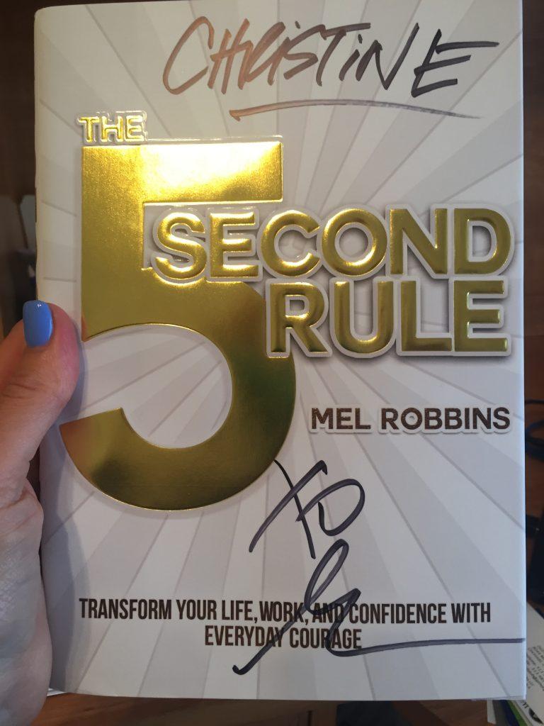 Using The 5 Second Rule, Mel Robbins, Christine Luken, Financial Lifeguard