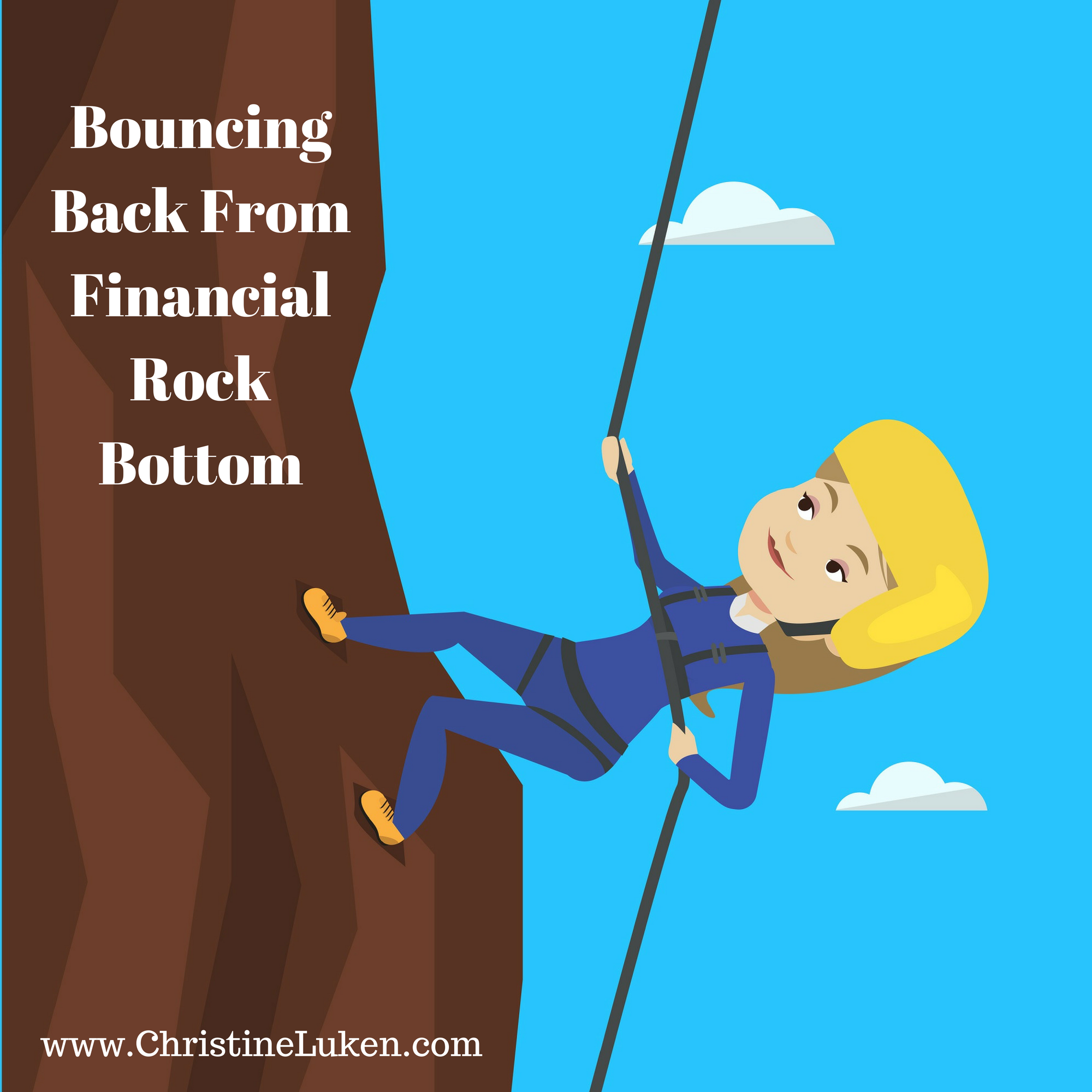 Financial Rock Bottom, Christine Luken, Financial Lifeguard