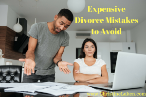 Expensive Divorce Mistakes to Avoid, man and woman fighting over bills