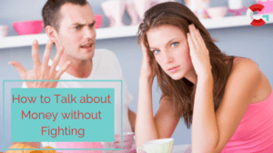 How to talk about money without fighting, attractive couple arguing at the kitchen table